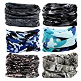 BLGame Headwear Head Wrap Sport Headband Sweatband - 6pcs Seamless Face Mask Magic Scarf Outdoors Sport UV Resistence Dust for Men Women Kids BY (6pcs Camouflage) (Color: 6pcs Camouflage, Tamaño: 19.6*9.8 inches)