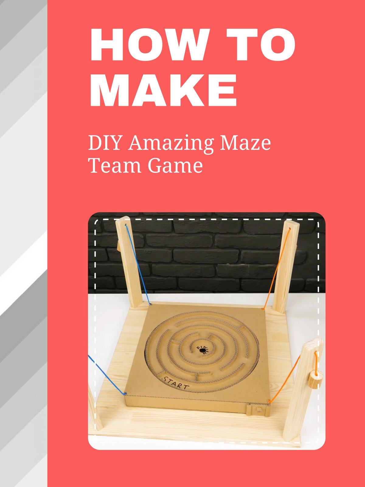 How To DIY Amazing Maze Team Game