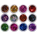 Polytree 12 Colors DIY Nail Art Glittering Rhombus Sequins Manicure Decorations