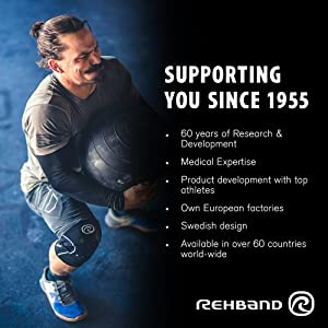 Rehband Rx Knee Support 5mm - X-Small - Black- Expand Your Movement + Cross Training Potential - Knee Sleeve for Fitness - Feel Stronger + More Secure - Relieve Strain - 1 Sleeve (Color: Black, Tamaño: X-Small)