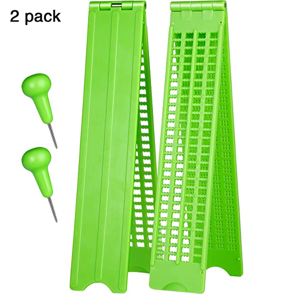 4 Lines 28 Cells Braille Slate Braille Writing Slate Plastic Braille Slate Kit, Green (2)