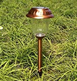 8Pack Copper Finish Solar Light Set Sogrand Solar Pathway Light Set