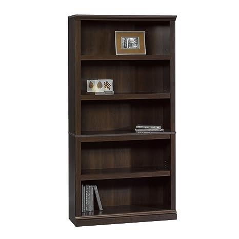 Sauder Bookcase, Cinnamon Cherry Finish