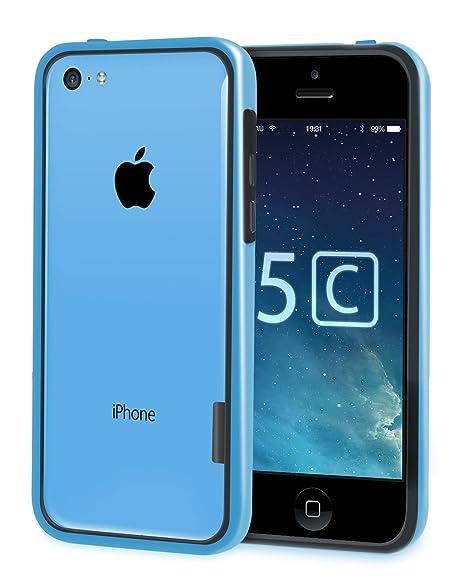 vau Bumper Edge - Schutzcase speziell für Apple iPhone 5C (black & blue)