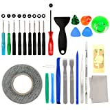 27 in 1 Cell Phone iPhone Repair Screwdriver Kit Tool with Screen Removal Adhesive Sticker for Phones,iPad and More Electronic Devices DIY Fix Tool Kits (Tamaño: 27 in 1)