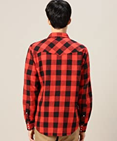 Red Check Western Shirt 1211-149-6740: 1