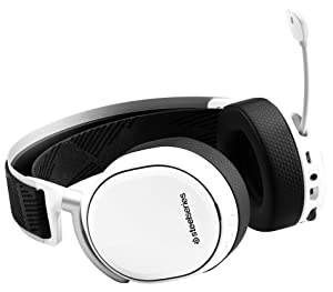 SteelSeries Arctis Pro Wireless - Gaming Headset - Hi-Res Speaker Drivers - Dual Wireless (2.4G & Bluetooth) - Dual Battery System - White (Color: White, Tamaño: Arctis Pro Wireless)