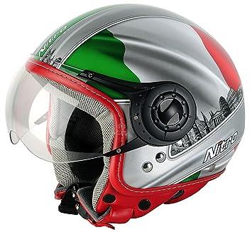NITRO 187803XS67 Casque Moto X-548 Italy Gris