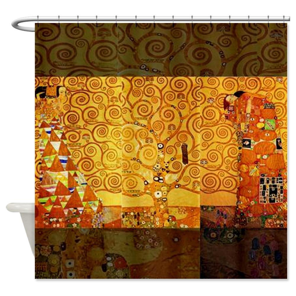 CafePress Gustav Klimt Tree of Life Art Nouveau Shower Curta Shower Curtain