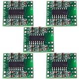 Allpartz 5pcs Mini PAM8403 2 x 3W D Class Digital Amplifier Board 2.5-5V USB Power (Color: Green)