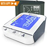 Iprovèn Blood Pressure Monitor Clinical Upper Arm -Premium Technology: Double Pulse Detection Technology - Lightning Fast (30-40 SEC) Highly Accurate - Free App and Medium Cuff (White-Gray) (Color: White-gray)