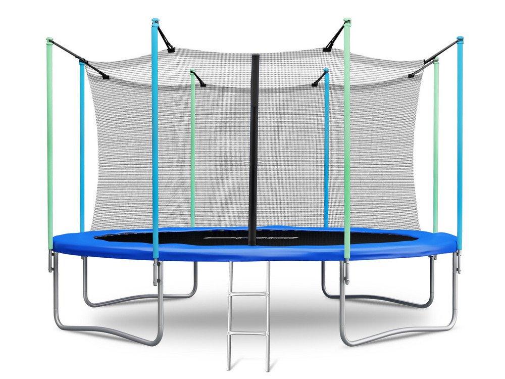 Trampolin 427 cm – 14 ft mit Sicherheitsnetz Innennetz und Einstiegsleiter Neo-Sport PRO Gartentrampolin günstig kaufen