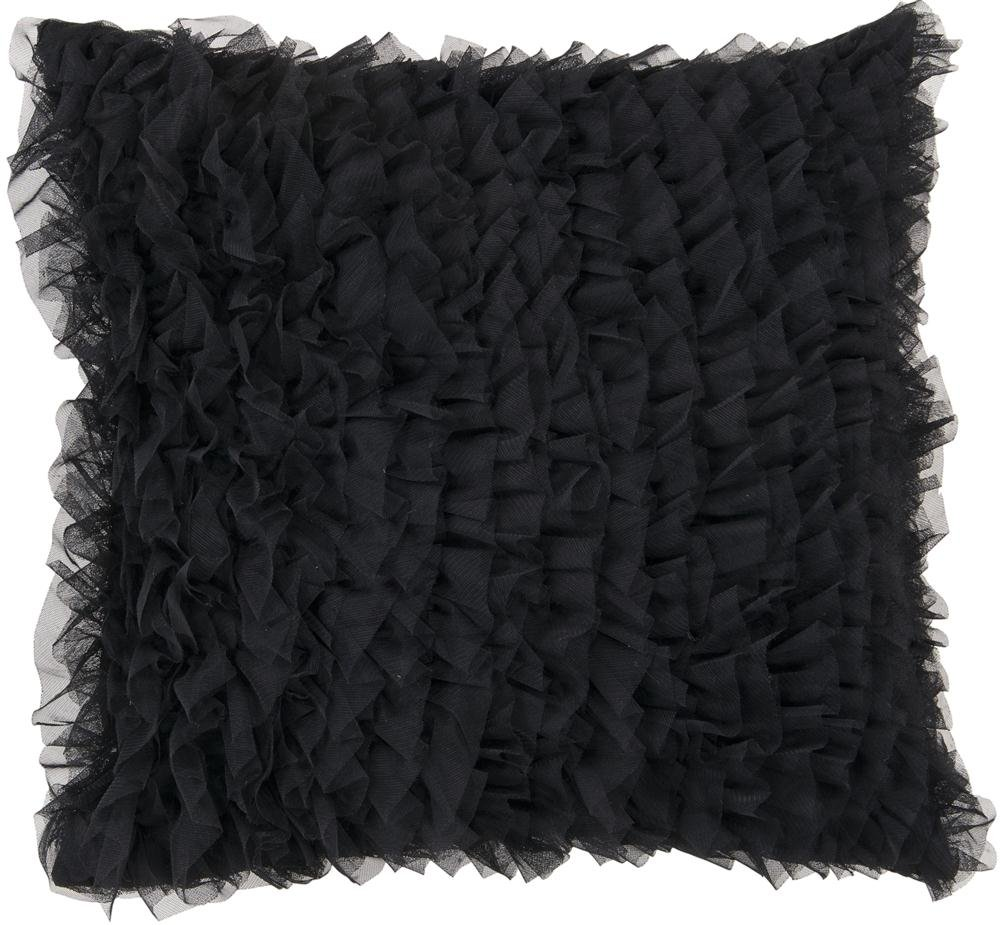 Candice Olson by Surya AMCO-602 Machine Made 100% Polyester Coal Black 18 x 18 Decorative Pillow