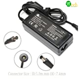 YTech 65W AC Power Adapter Charger for HP Pavilion G4 G6 G7 M6 DM4 DV4 DV5 DV6 DV7 G60 G61 G72; Probook-Elitebook-Compaq-Presario (Color: black)