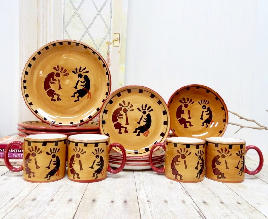 Kokopelli Collection Dinnerware Set Everything Log Homes