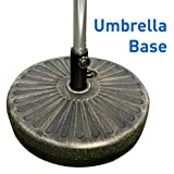 EasyGoProducts EGP-BASE-004 EasyGo Round Water Umbrella Base Weight – Brown Undertone/Gold Finish