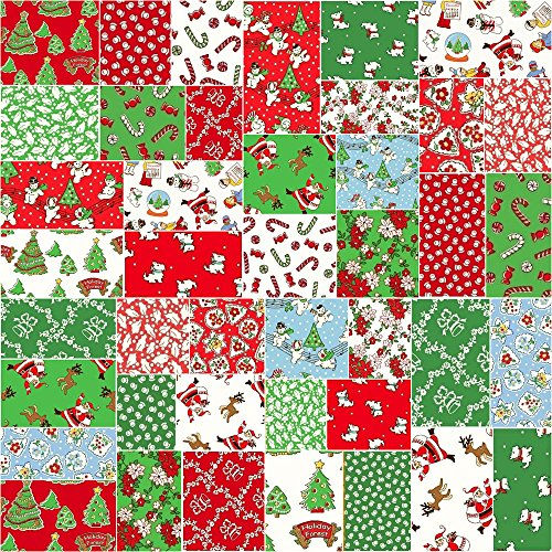Windham STORYBOOK CHRISTMAS Precut 5-inch Charm Pack Cotton Fabric Quilting Squares Assortment Whistler Studios (Charm Packs Christmas compare prices)