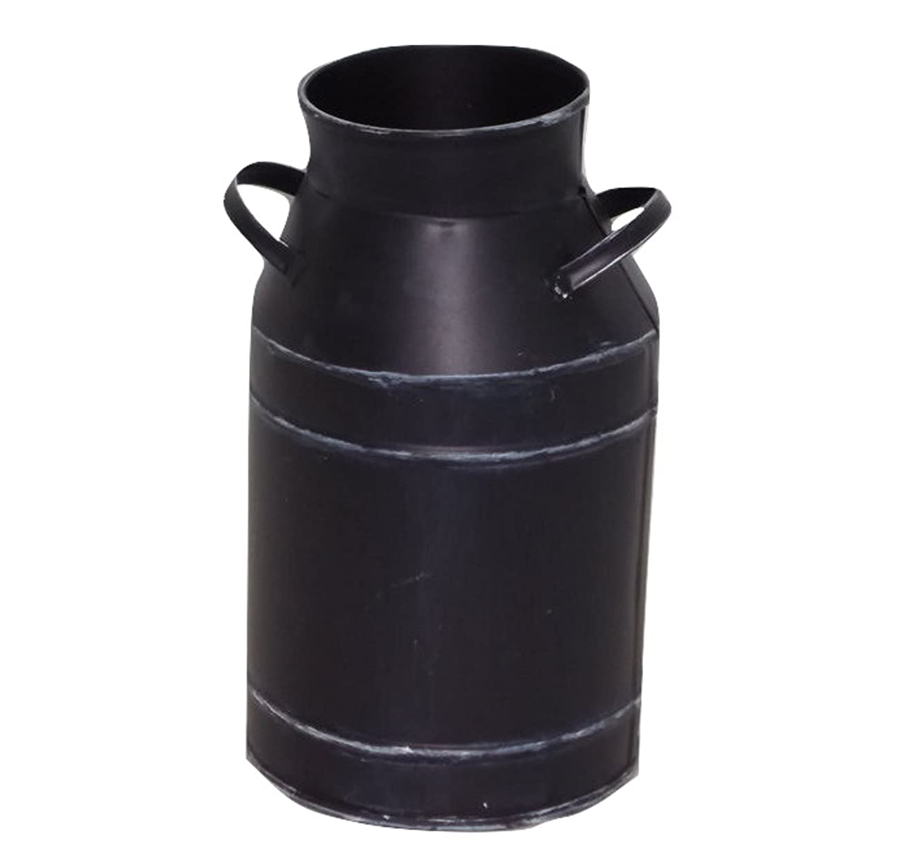 Large Antique Black Milk Can 0