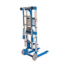 Genie Lift, GL- 4, with Ladder,  Heavy-Duty Aluminum Manual Lift, 500 lbs Load Capacity, Lift Height 5' 11""