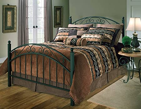 Hillsdale Furniture 1142BKR Willow Bed Set with Rails, King, Textured Black