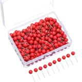 Map Tacks Push Pins Small Size 300 Packs (Red, 1/5 Inch) (Color: Red, Tamaño: 1/ 5 Inch)