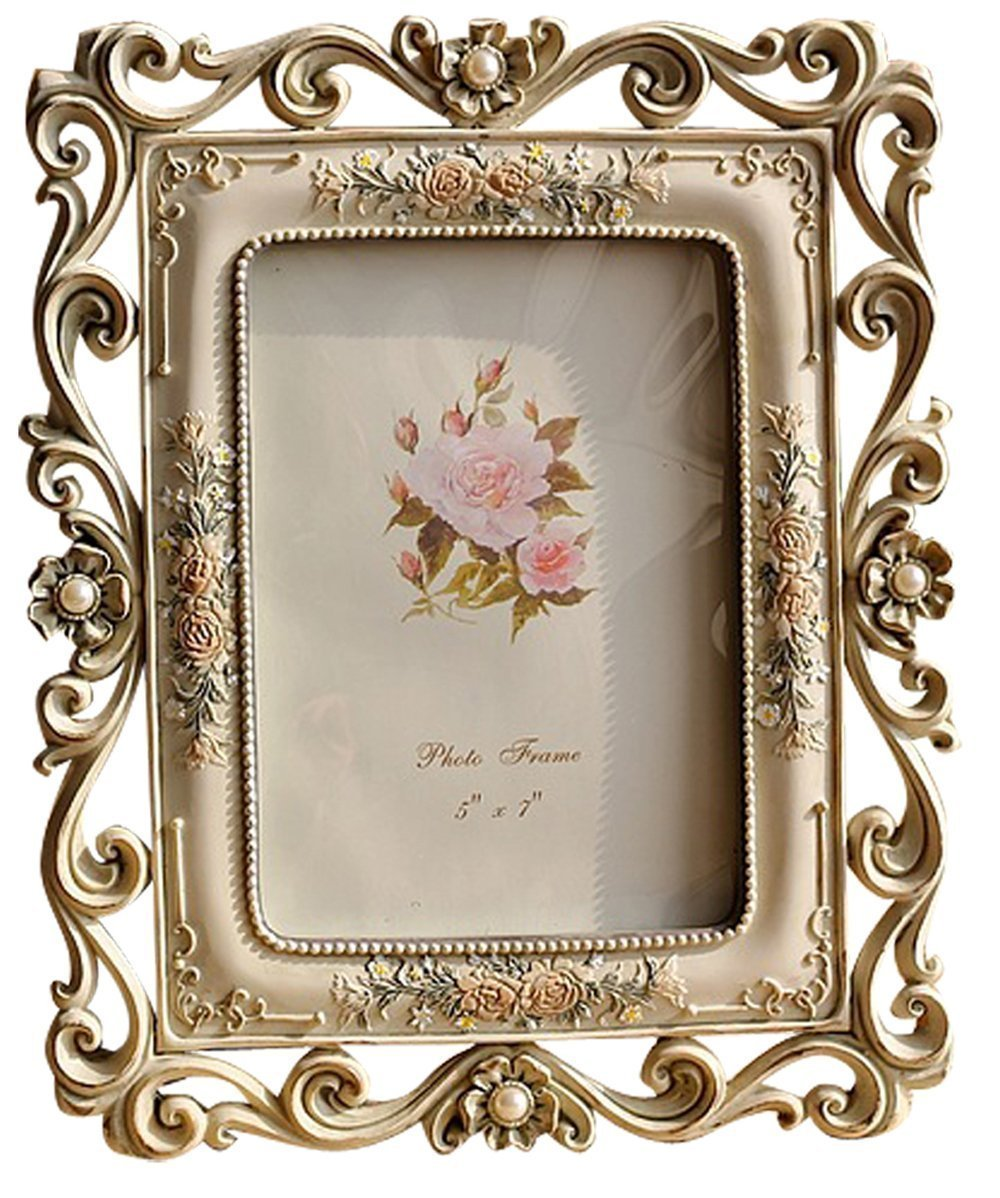 Gift Garden Vintage Picture Frame 5 by 7 -Inch Hollow up for Photo 5x7 0