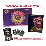 101 Cashflow Board Game + 202 Cashflow Board Game Robert Kiyosaki Energy Saver Sticker