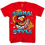 Disney Boys' Big Boys' the Muppets T-Shirt, Red, SMALL (Color: Red, Tamaño: Small)