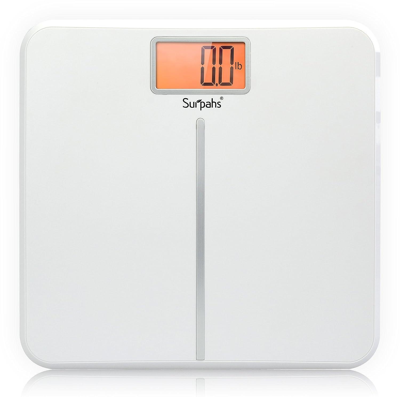Bathroom Digital Scales: Surpahs White Wing Ultra-slim Digital Bathroom Scale