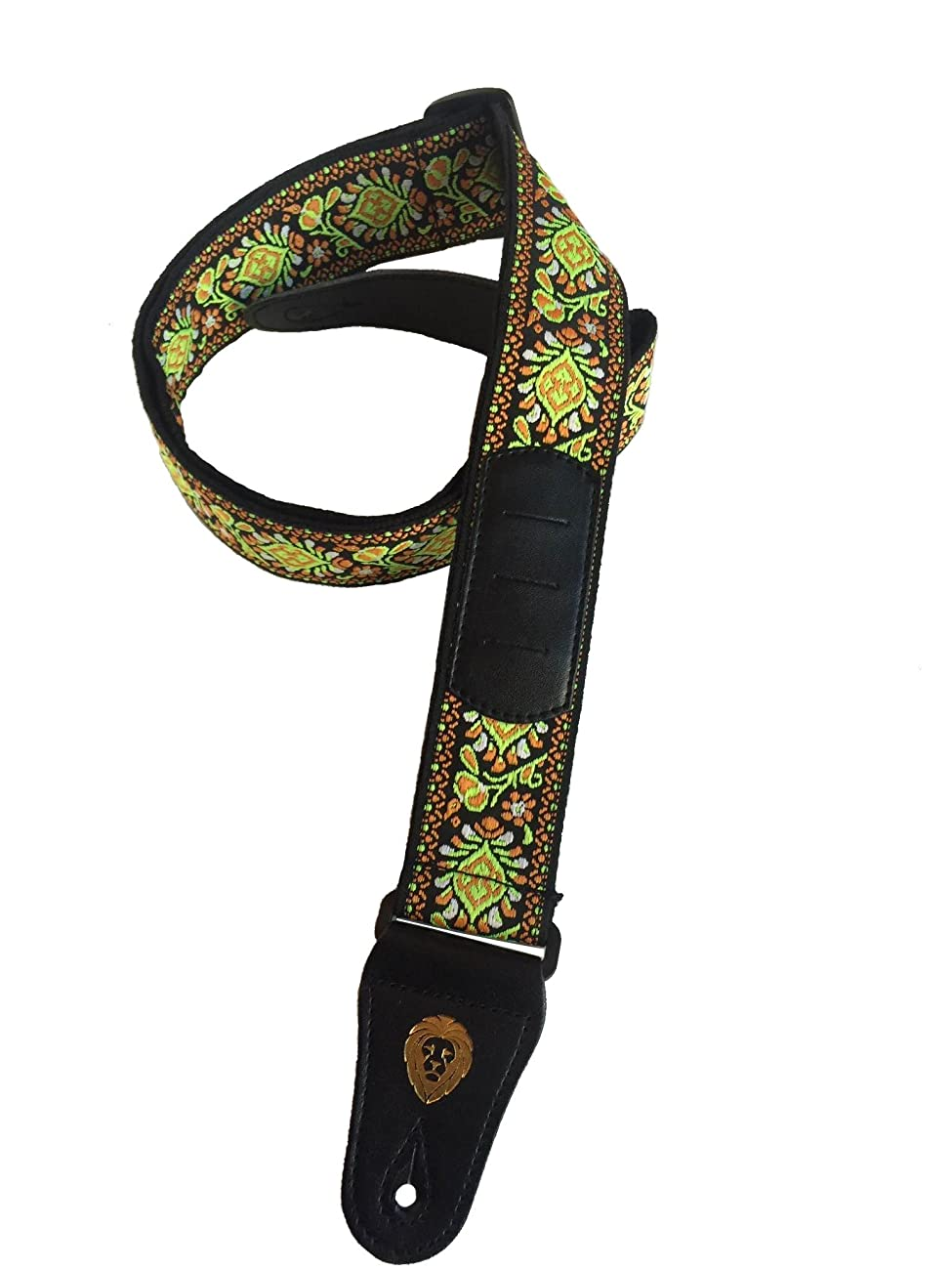 Golden Lion's 60's Jacquard Vintage Guitar Strap with Newly Designed Pick Pocket! 1