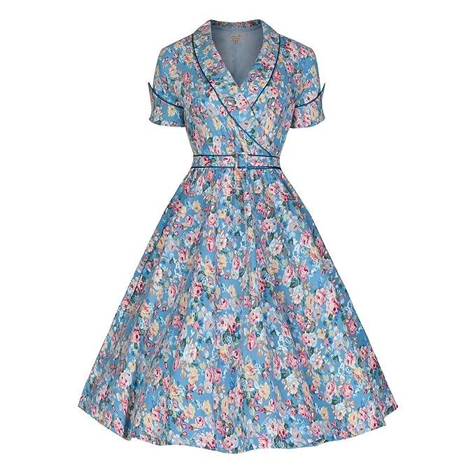 Courtney Vintage 1950s Inspired Floral Swing Dress                                             $54.99 AT vintagedancer.com