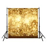 DODOING 10x10ft Gold Bokeh Glitter Photo Backdrop, Wedding Photo Booth Props, Christmas Photography Background, Birthday Party Ceremony Background, Studio Props Backdrop (Color: Style 5-(10x10ft))