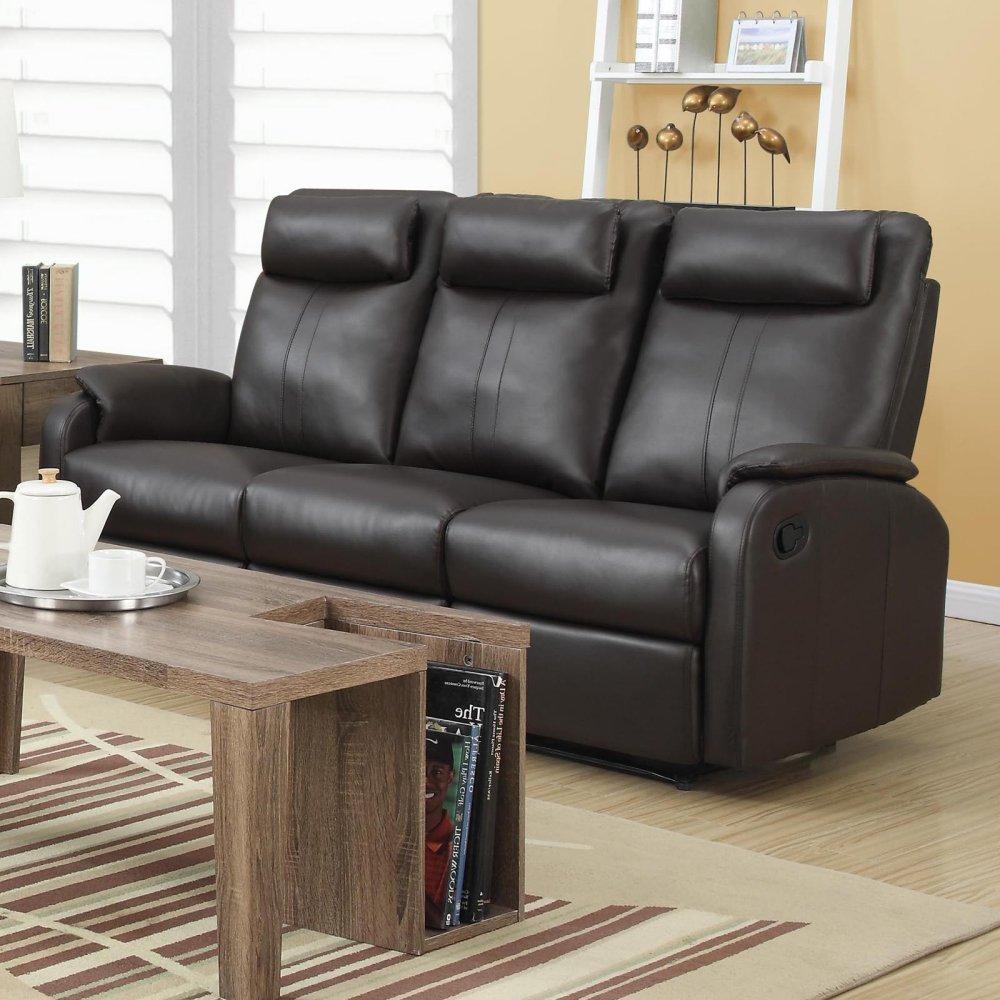 Ebay Brown Leather Sofa: Monarch Specialties Reclining