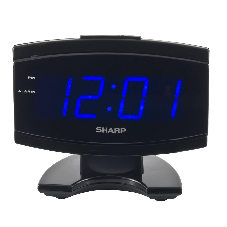 Sharp Spc106x Led Alarm Clock Black New Free Shipping