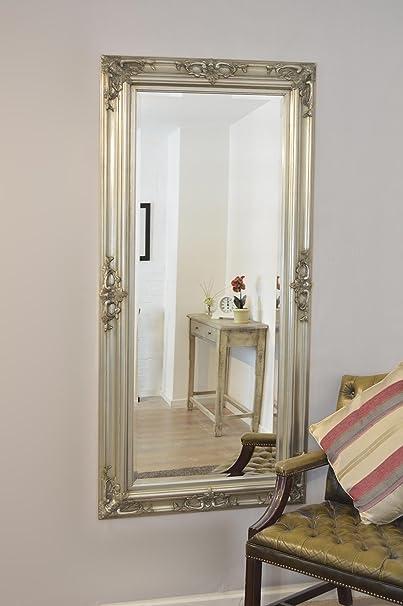 Lanark Silver Dress Mirror 178 x 87