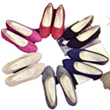 BeautyVan—— Ladies Slip On Flat Shoes Sandals Casual Ballerina Shoes Size Candy Color Small Shoes Professional Ladies Flat Sandals (US:5.5, Pink) (Color: Pink, Tamaño: US:5.5)