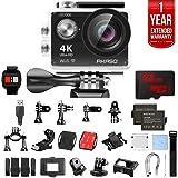 AKASO EK7000 Ultra HD 4k WiFi 170 Degree Wide Waterproof Sports Action Camera Black (EK7000) with 32GB MicroSD High-Speed Memory Card & 1 Year Extended Warranty
