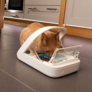 Automatic Pet Feeder - Sureflap - SureFeed Microchip Pet Feeder - MPF001 - Suitable for Both Wet and Dry Food - Bonus eOutletDeals Pet Towel (Tamaño: MPF001+ET-TOWEL)