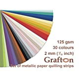 30 colors x 100 strips per pack, 3000 Metallic Paper Quilling Strips, 2mm (1/12 Inch) wide, 297 mm (11,5 Inch) long, 125 gsm, DIY Papercraft, ZE PP 2