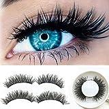 Geyou Magnetic False Lashes,3D Ultra-thin 0.2mm Magnetic False Eyelashes Natural Looking Handmade Reusable Fake Magnet Eyelashe New (A)