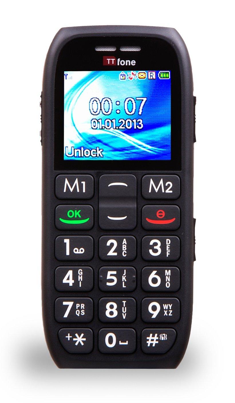 ttfone mars black big button senior mobile phone basic. Black Bedroom Furniture Sets. Home Design Ideas