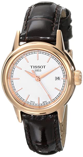Tissot Women's T0852103601100 Carson Analog Display Swiss Quartz Brown Watch