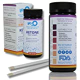 Ketone Strips 100ct   Keto Sticks for Ketogenic Diet   Medical Grade High Precision   Test Ketosis Levels with Keto Testing Kit for Diabetes, Diabetics, Fat-Burners, Paleo & Low-Carb Weight-Loss Diets (Tamaño: Ketone 100 Count)