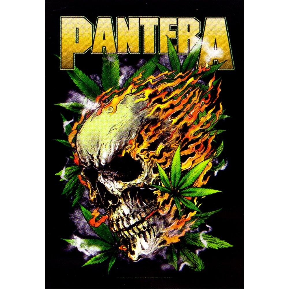 Pantera Skull Pantera Skull Leaf Tapestry