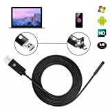 (Upgrade)USB Endoscope, Koeson 2 in 1 Borescope Inspection Camera HD Waterproof Snake Camera with 6 Adjustable LED Lights for Android Smartphone&Table