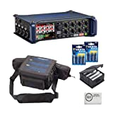 Zoom F8 MultiTrack Field Recorder Bundle with Zoom BCF-8 Battery Case, PCF-8 Protective Case, 8 Batteries, and Austin Bazaar Polishing Cloth
