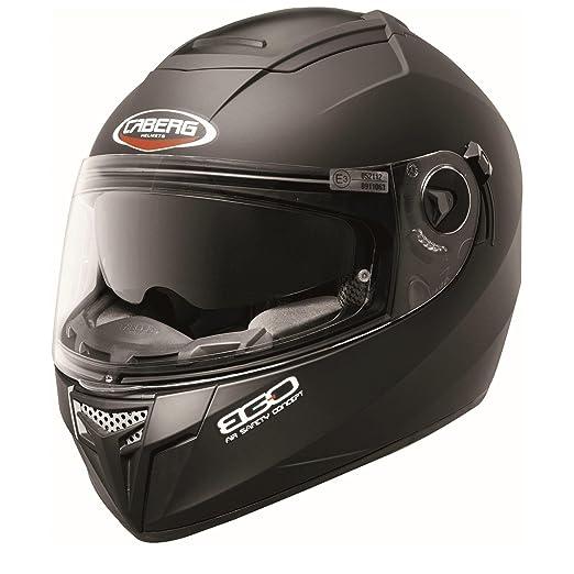 Caberg Ego Casque Integral Moto Casque Racing Casque Noir Mat (XL)