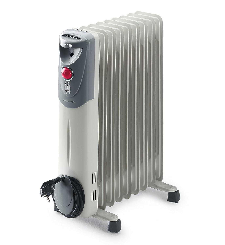 Radiador blanco con 9 elementos, potencia de 2000w