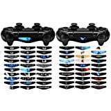 eXtremeRate 60 Pcs/Set Vinyl Reuseable Lighttight Led Light Bar Decals Stickers for Playstation 4 PS4 PS4 Slim PS4 Pro Remote Controller Skins (Color: B2)