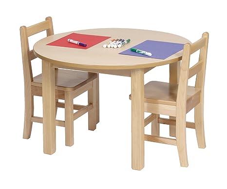"Kids Round Table Size: 20"" H x 48"" W x 48"" D"